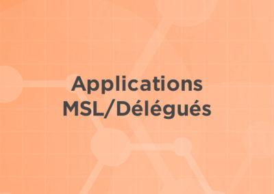 Applications MSL/Délégués