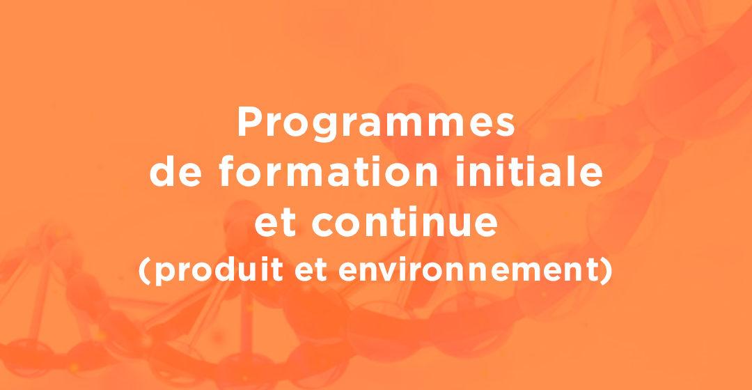 Programmes de formation initiale et continue